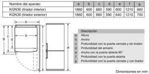 SIEMENS KG36NXI3A COMBI INOX NO FROST 186X60CM A++ SKIN CONDENSER - 3