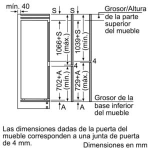 SIEMENS KI86NAF30F COMBI INTEGRABLE CICLICO CONGELADOR NO FROST 177X56CM A++ - 4