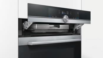 Horno Siemens HR675GBS1 Pirolítico Inoxidable de 60 cm con Vapor | Recetas programadas cookControl | Clase A+ | iQ700 - 4