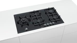 Placa de Gas Siemens ER9A6SD70 Negro de 90 cm con 5 Quemadores a 9 niveles de potencia | 1 Quemador WOK | Parrillas hierro fundido - 2