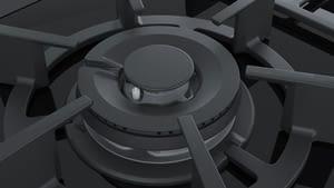 Placa de Gas Siemens ER9A6SD70 Negro de 90 cm con 5 Quemadores a 9 niveles de potencia | 1 Quemador WOK | Parrillas hierro fundido - 3