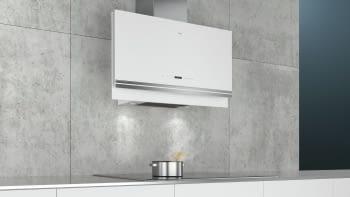 Siemens LC97FVW20 Campana decorativa de pared Cristal Blanco 90cm Home Connect | Promocionada - 3