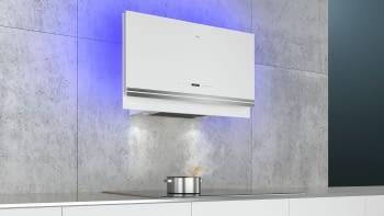 Siemens LC97FVW20 Campana decorativa de pared Cristal Blanco 90cm Home Connect | Promocionada - 4