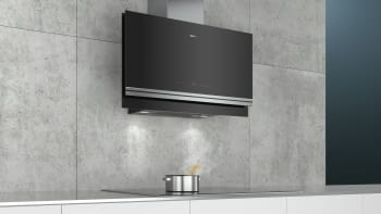 Siemens LC97FVW60 Campana decorativa de pared 90cm Cristal Negro   Wifi Home Connect   B - 3
