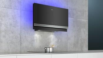 Siemens LC97FVW60 Campana decorativa de pared 90cm Cristal Negro   Wifi Home Connect   B - 4