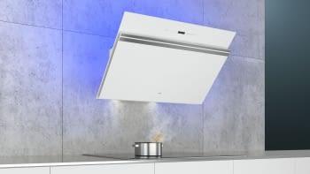 Siemens LC91KWW20 Campana decorativa de pared 90cm Cristal Blanco   Wifi Home Connect   A+ - 2