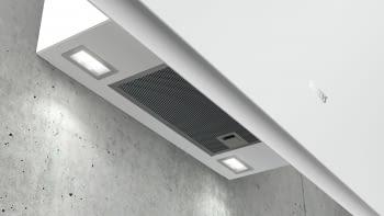 Siemens LC91KWW20 Campana decorativa de pared 90cm Cristal Blanco   Wifi Home Connect   A+ - 7