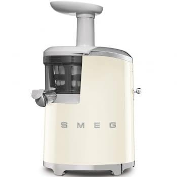 Licuadora SJF01CREU SMEG Crema de 150 W, con Tecnología de extracción lenta 43 RPM | Jarra 500ml en Tritan | Palanca de ajuste de zumo