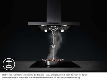 Campana de techo isla AEG de bajo consumo y con aspiración UltraSilenciosa y Hub2Hood - 6