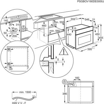 Horno Microondas AEG KME761000B Compacto 45cm Esmaltado Cristal Negro Grill de 1900 W con 19 funciones disponibles - 9