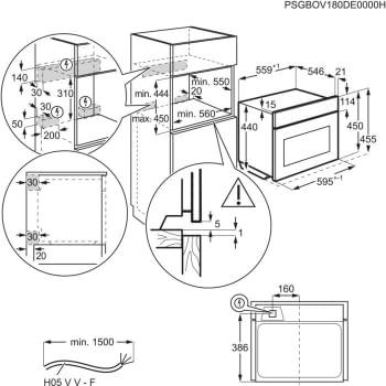 Horno Microondas Compacto AEG KMK721000W Cristal Blanco   Columna 60cm Altura 45cm   Grill 1900 W   Micro 1000 W   46 Litros   Micro & Grill - 3