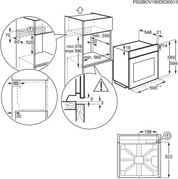 Horno AEG BES331111M Inox Antihuellas | 9 Funciones | AquaClean | 1 Carril Telescópico | Mandos Escamoteables | Clase A - 9