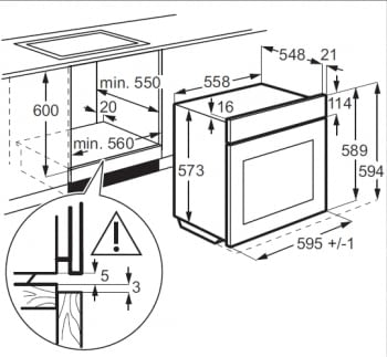 Horno AEG BES231111M Inox Antihuellas | 9 Funciones | AquaClean | 1 Carril Telescópico | Puerta Fría | Temporizar Pantalla LCD | Clase A - 3