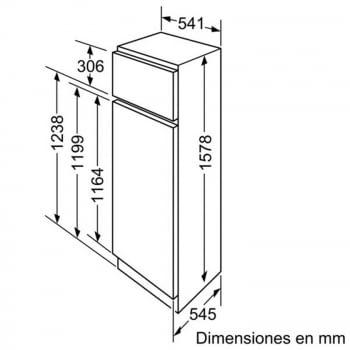 BALAY 3FIB3720 FRIGORIFICO 2P INTEGRABLE CICLICO 157.8x54.1CM A+ - 2