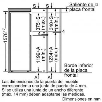 BALAY 3FIB3720 FRIGORIFICO 2P INTEGRABLE CICLICO 157.8x54.1CM A+ - 3
