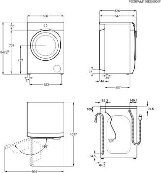 Lavadora Electrolux EW6F4823BB Libre de 8 kg a 1200 rpm Diferido SensiCare Inverter Clase A+++ -20% - 7