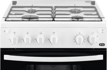 Cocina a Gas Zanussi ZCG61281WA Blanca de 85 x 60 cm con 4 quemadores gas butano y Horno de Gas con Grill Clase A - 2