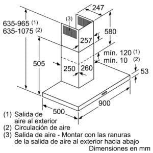 BALAY 3BC097EX CAMPANA INOX 90CM 720M3/H - 6