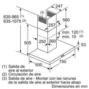 BALAY 3BC077EX CAMPANA INOX 75CM 720M3/H - 10
