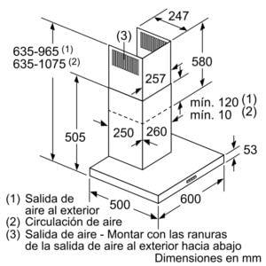 BALAY 3BC067EX CAMPANA INOX 60CM 730M3/H - 10