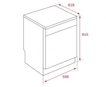 TEKA LP9 850 INOX LAVAVAJILLAS 14 SERVICIOS 3a BANDEJA 44dB A+++ - 2