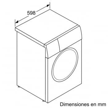 Lavasecadora Bosch WVH28471EP Lavado 7Kg Función Secado 4Kg 1400rpm Bajo Consumo - 5