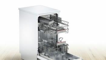 Lavavajillas Bosch SPS46IW07E Blanco de 45 cm para 9 servicios | Motor EcoSilence A++ - 3