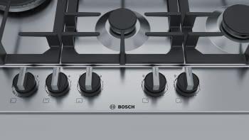 Placa de Gas Natural Bosch PCS7A5B90 Inoxidable de 75 cm con 4 Quemadores de Gas FlameSelect a 9 niveles + 1 Quemador Wok | Serie 6 - 4