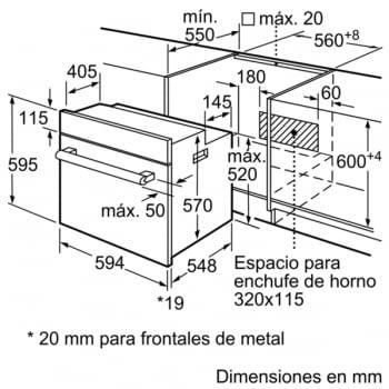 BOSCH HBF113ES0 HORNO INOX MULTIFUNCION ABATIBLE A - 3