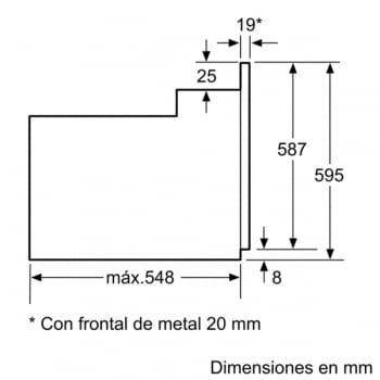 BOSCH HBF113ES0 HORNO INOX MULTIFUNCION ABATIBLE A - 5