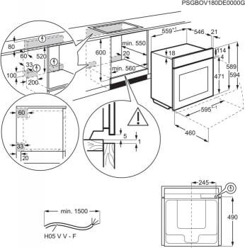 Horno AEG BPE546120M Pirolitico | Inoxidable antihuellas | 71 L | Sonda térmica y  SenseCook | Clase A+ - 4