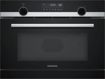 Horno Microondas Compacto Siemens CP565AGS0 Inoxidable de 45 cm y Vapor | Programas automáticos con cookControl| iQ500