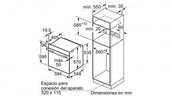 SIEMENS HB574AER0 HORNO INOX CRISTAL NEGRO PIROLITICO ABATIBLE A - 5