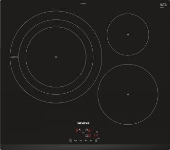 Siemens EH631BDB1E Inducción 60cm Negra | 3 Zonas Inducción max. 32cm