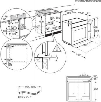 Horno AEG BEK435120W Blanco WhiteLine | 9 Funciones | AquaClean | 1 Carril Telescópico | Control Digital Pantalla LCD | Clase A+ - 5
