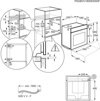 Horno AEG BEK435120W Blanco WhiteLine | 9 Funciones | AquaClean | 1 Carril Telescópico | Control Digital Pantalla LCD | Clase A+ - 6