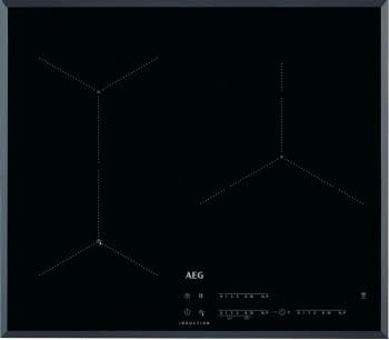 Placa de Inducción AEG IAE63431FB Flexible | 60 cm | 3 Zonas de cocción con PowerBoost | Conexión Placa-Campana Hob2Hood | Sensor de fritura SenseFry