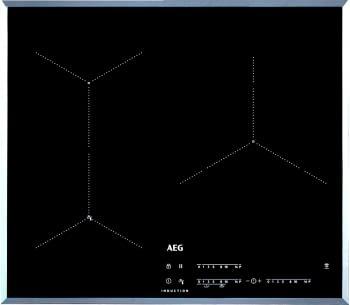 Placa de Inducción AEG IAE63431FB Cocción Asistida 3 Zonas 60cm Max 28 cm SenseFry PowerBoost
