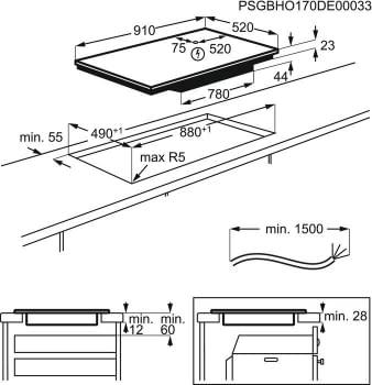 Placa de Inducción AEG IKE95471FB de 90 cm con 5 Zonas Flex Puente PowerBoost y Hob2Hood - 6