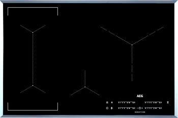 Placa de Inducción AEG IKE84445FB | 80 cm | 4 Zonas de cocción con PowerBoost | Conexión Placa-Campana Hob2Hood
