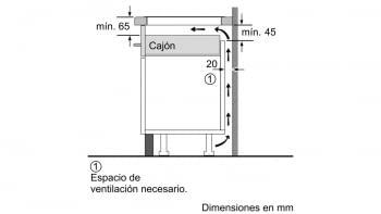 BALAY 3EB965AU INDUCCION GRIS ANTRACITA 3 ZONAS MAX 28CM BISELADA - 6