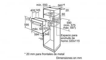 BALAY 3HB2031X0 HORNO INOX MULTIFUNCION ABATIBLE A - 3