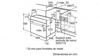 BALAY 3HB2031X0 HORNO INOX MULTIFUNCION ABATIBLE A - 5
