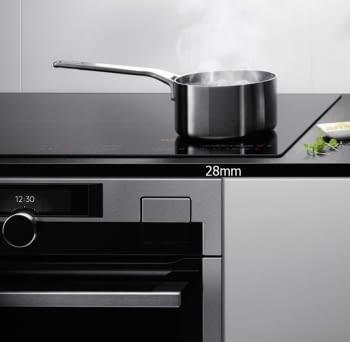 Placa de Inducción AEG IKE63471FB | 60 cm | 3 Zonas de cocción con PowerBoost | Conexión Placa-Campana Hob2Hood | Función FlexiPuente - 4