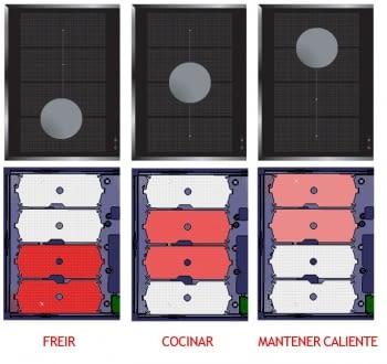 Placa de Inducción AEG IKE63441FB - 3 ZONAS MAXISENSE - █ 60cm ◉28cm - 3