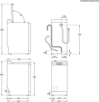 Lavadora de Carga Superior Zanussi ZWQ71235SI Libre Blanco de 7 kg a 1200 rpm Clase A+++ - 9