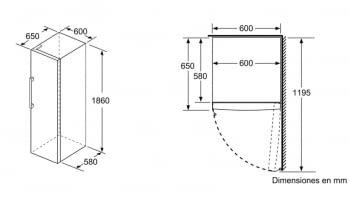 SIEMENS GS36NVI3P CONGELADOR INOX NO FROST 186x60CM A++ - 5