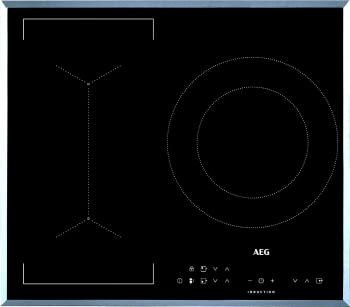 Placa de Inducción AEG IKB63341FB de 60 cm, 3 Zonas de cocción con PowerBoost | Conexión Placa-Campana Hob2Hood