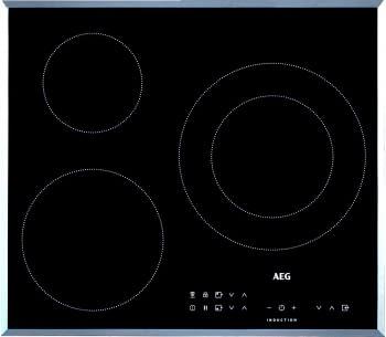 Placa de Inducción AEG IKB63302FB de 60 cm con 3 zonas Max 28 cm y 5.2 kW PowerBoost y Hob2Hood