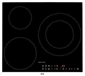 Placa de Inducción AEG IKB63301XB 3 Zonas  Max 28 cm Marco inoxidable